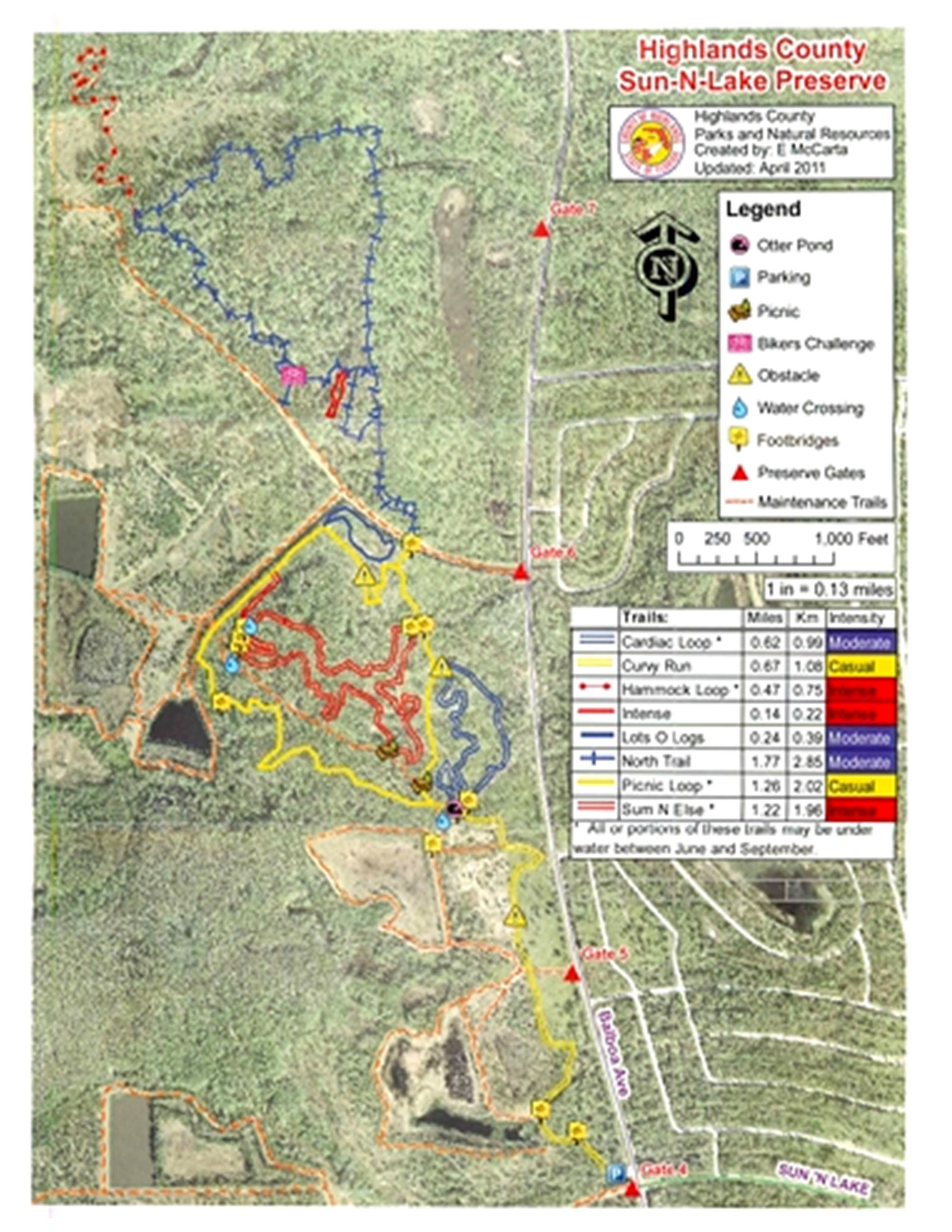 Sun n lake preserve trail map