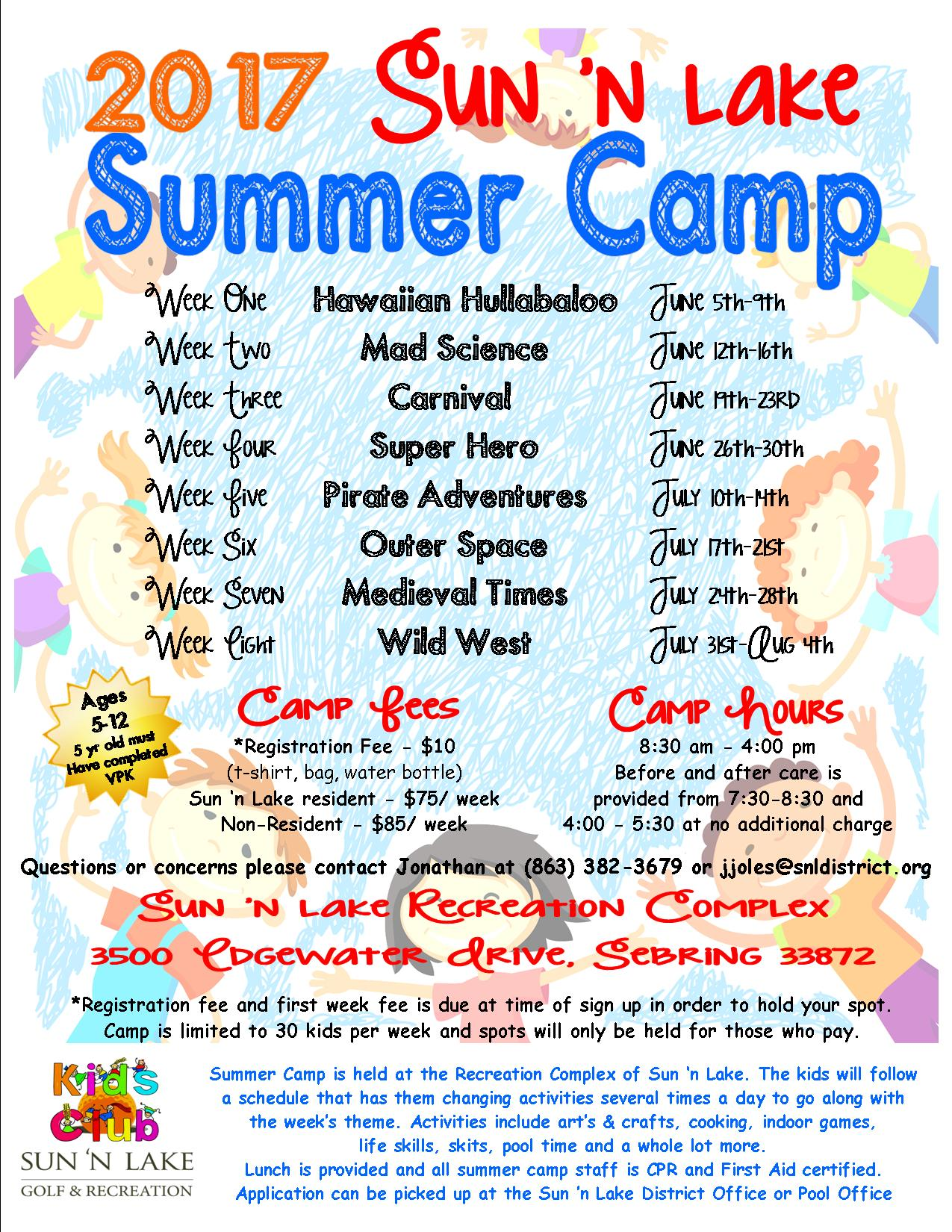 Summer Camp Flyer 2017